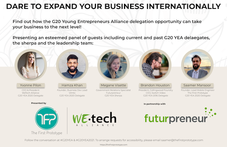 Event poster for Dare to Expand your Business Internationally